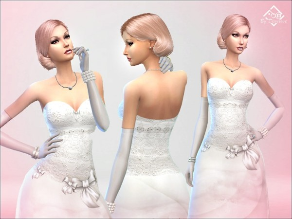 The Sims Resource: Wedding Dream Dress by Devirose