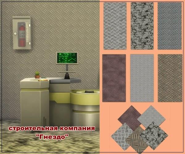 Sims 3 by Mulena: Metal Wallpaper Metos 3