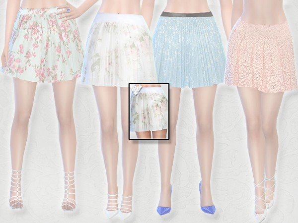 The Sims Resource: Spring Skirt Set by Pinkzombiecupcakes