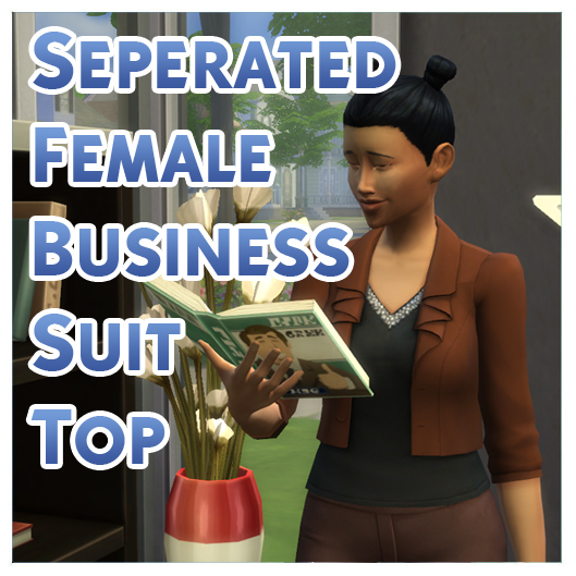 Mod The Sims: Seperated and Detagged Business Suit Top by Menaceman44