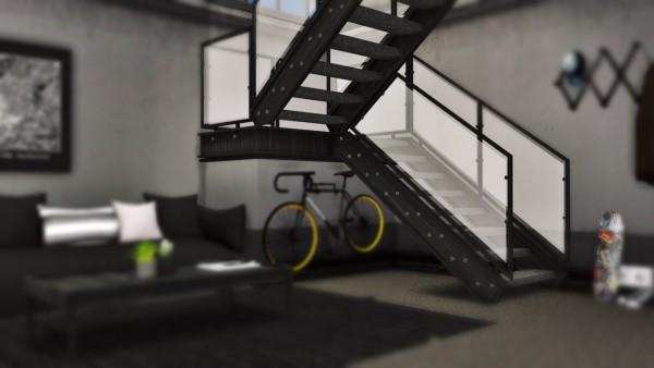 MXIMS: Industrial U Stairs