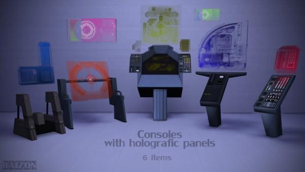 Rumoruka Raizon: Consoles with holografic panels