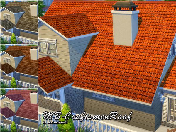 The Sims Resource: MB   CraftsmenRoof by matomibotaki