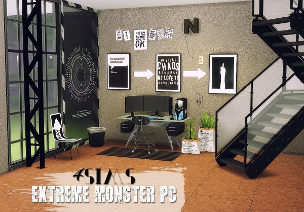 Sims 4 Designs: Extreme Monster PC converted from TS3 to TS4