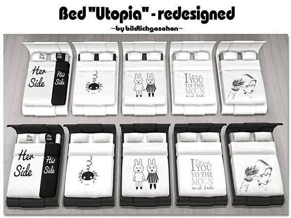 "Akisima Sims Blog: Bed ""Utopia"" – redesigned"
