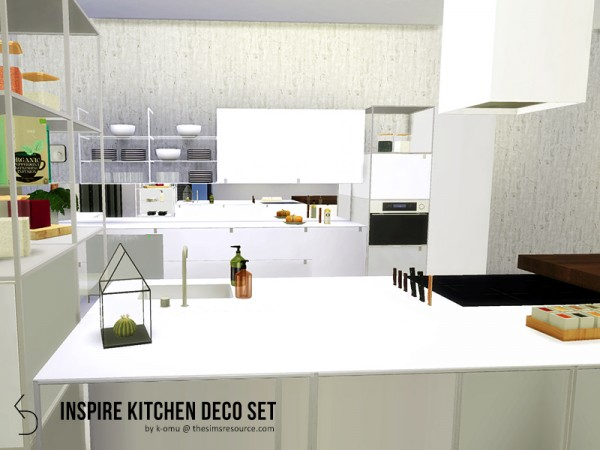 The Sims Resource: INSPIRE Kitchen Deco Set by k omu