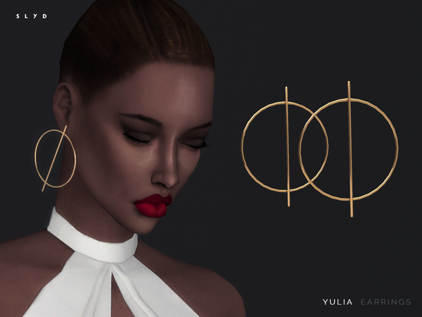 The Sims Resource: Yulia Earrings by SLYD