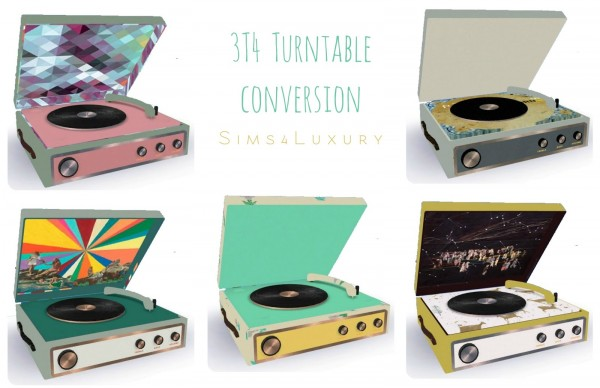 Sims4Luxury: Turntable converted from TS3 to TS4