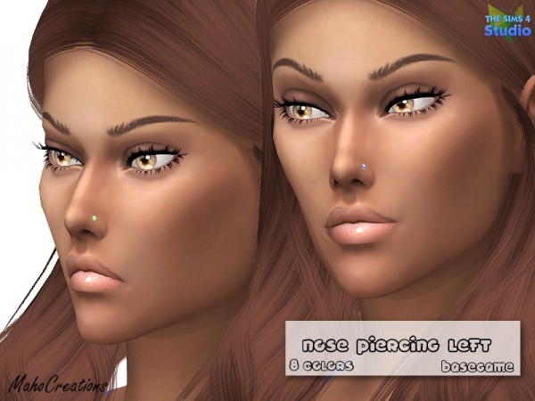 The Sims Resource: Nose Piercing Set by MahoCreations