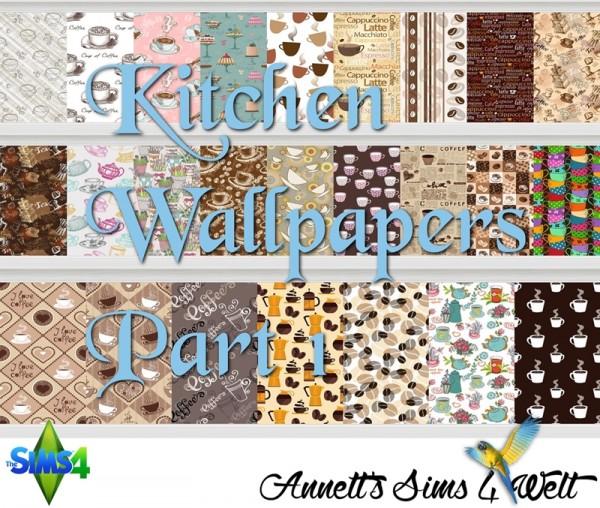 Annett`s Sims 4 Welt: Kitchen Wallpapers Part 1 + Part 2