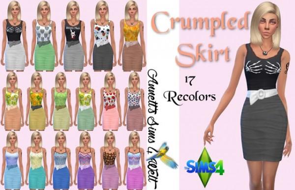 Annett`s Sims 4 Welt: Crumpled Skirts