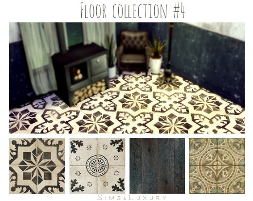 Sims4Luxury: Floor collection 4