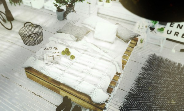 Mxims Rustic Pallet Bed Part 2 Sims 4 Downloads