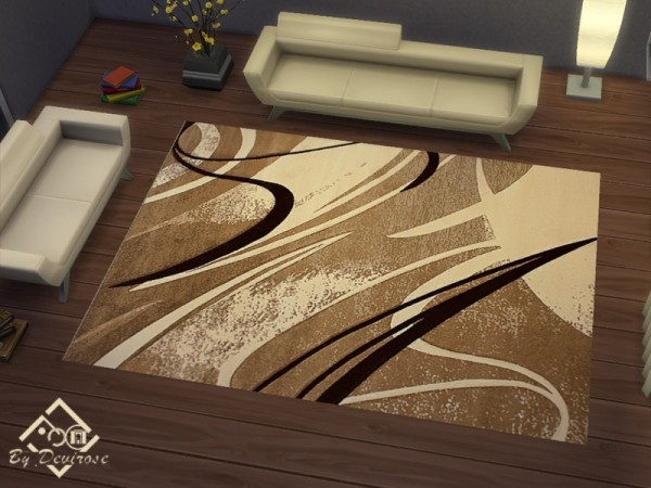 The Sims Resource: Cream Rugs by Devirose