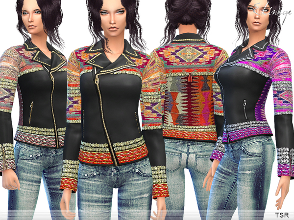 The Sims Resource: Bohemian Leather Jacket by ekinege
