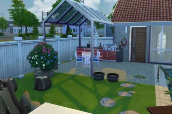 Blackys Sims 4 Zoo: Modern Cottage by ChiLLi