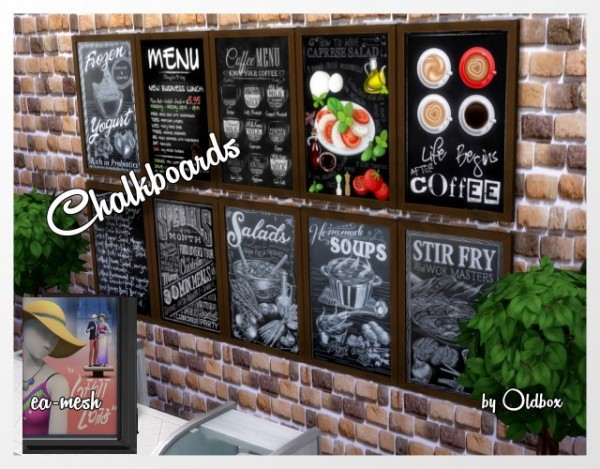 All4Sims: Chalkboards by Oldbox