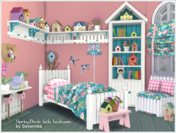 Sims By Severinka Kids Bedroom Quot Spring Birds Quot Sims 4