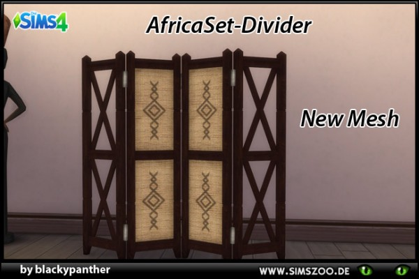 Blackys Sims Zoo: Africa Set Divider by blackypanther