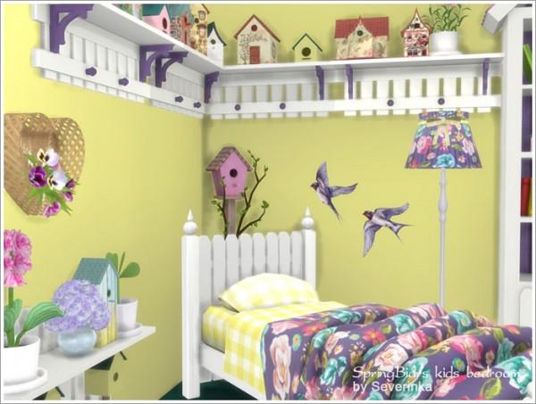 Sims by Severinka: Kids bedroom Spring Birds