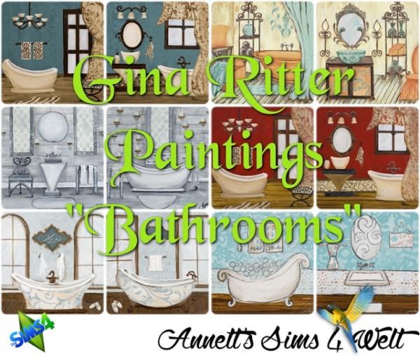 Annett`s Sims 4 Welt: Gina Ritter Paintings Bathrooms