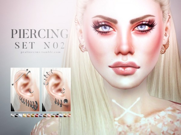The Sims Resource: Piercing Set N02 by Pralinesims