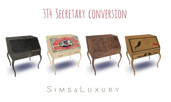 Sims4Luxury: Secretary converted from TS3 to TS4