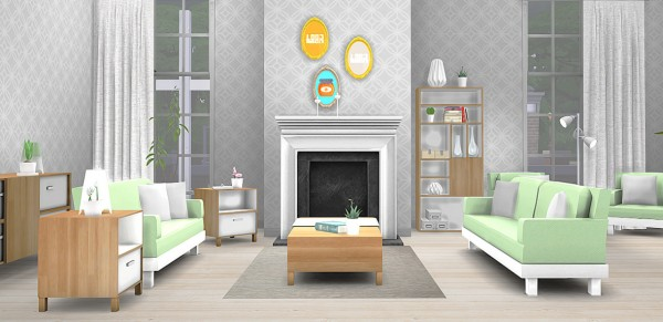 The Plumbob Architect: Life in Pixelcolors   Livingroom Set