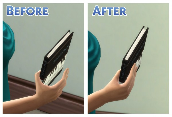 Mod The Sims: Thin Book Tuning Fix by Menaceman44