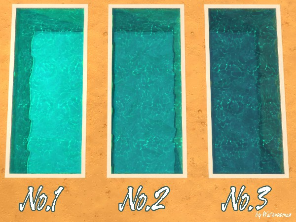 Akisima Sims Blog: Fresh Pool Colours   turquoise