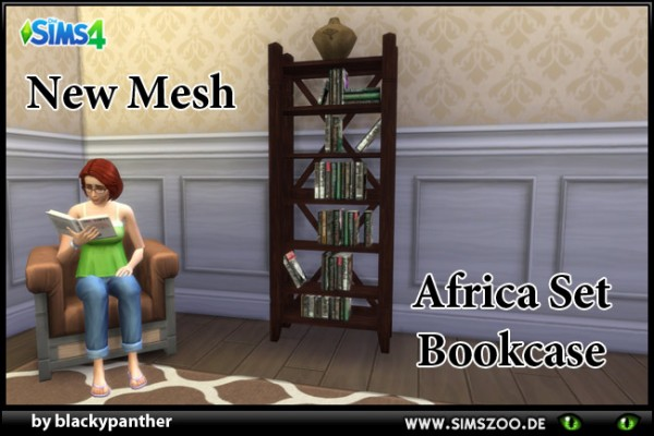 Blackys Sims 4 Zoo: Africa Set Bookcase by  blackypanther