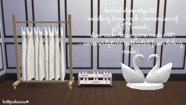 Brittpinkiesims Bridal Shop Stuff Sims 4 Downloads