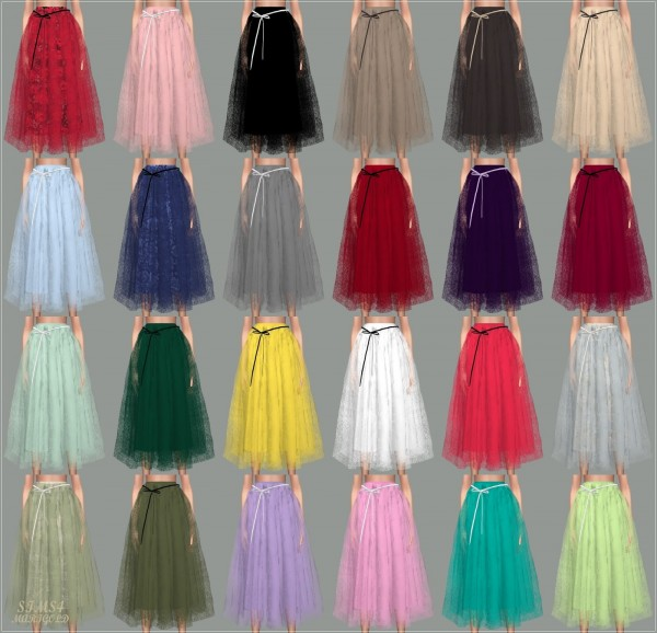 SIMS4 Marigold: Ribbon Ballerina Long Skirt • Sims 4 Downloads