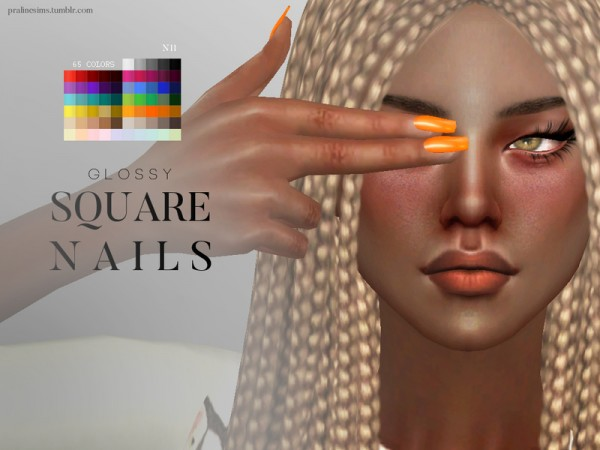 The Sims Resource Glossy Nail Pack By Pralinesims Sims 4 Downloads