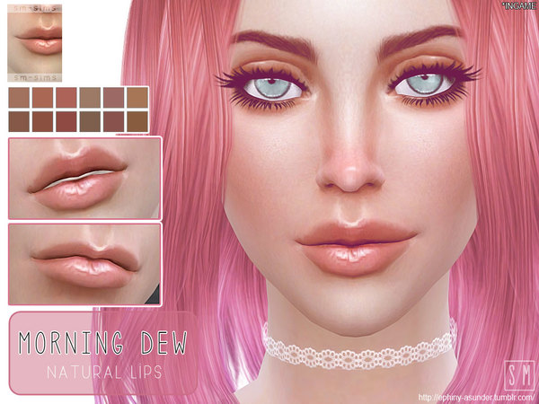 The Sims Resource: Morning Dew    Lip Gloss