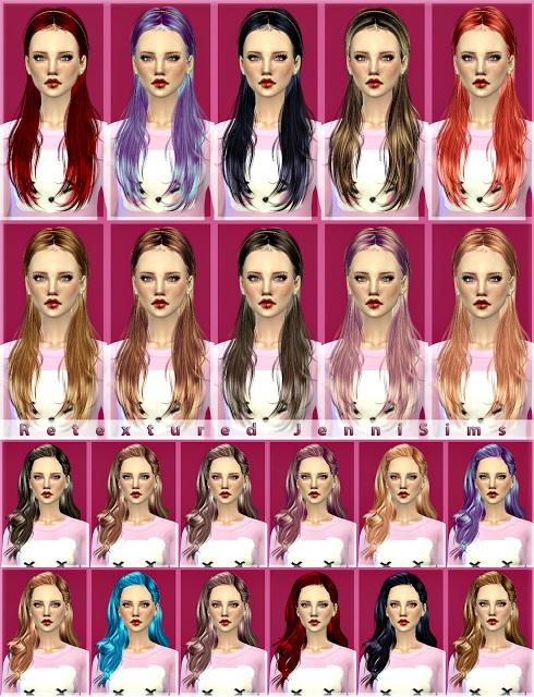 Jenni Sims: Newsea`s Hit The Lights, Shepherd, Carly Hairs retextures