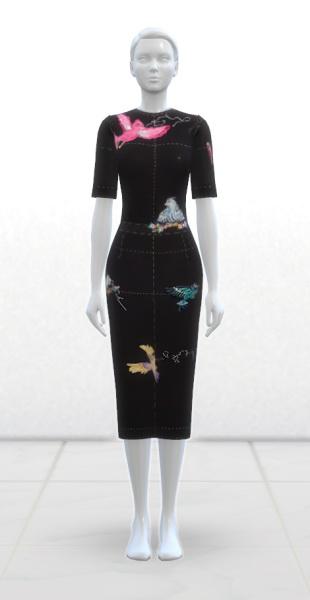 Greenapple18r: Wool Dress Black