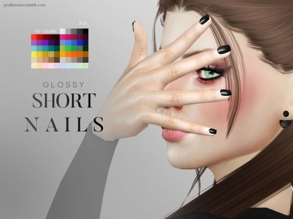 The Sims Resource: Glossy Nail Pack by Pralinesims