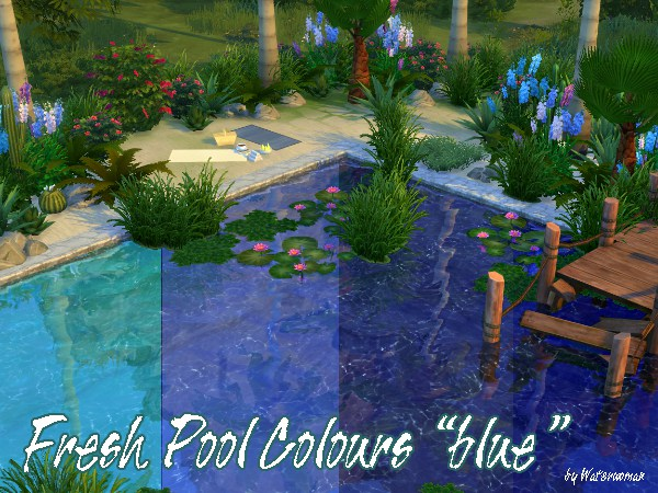 Akisima sims blog fresh pool colours blue sims 4 for Pool designs sims 4