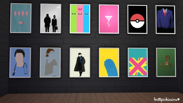 Brittpinkiesims: 1000 Followers Gift: Maxis Match TV Show Posters