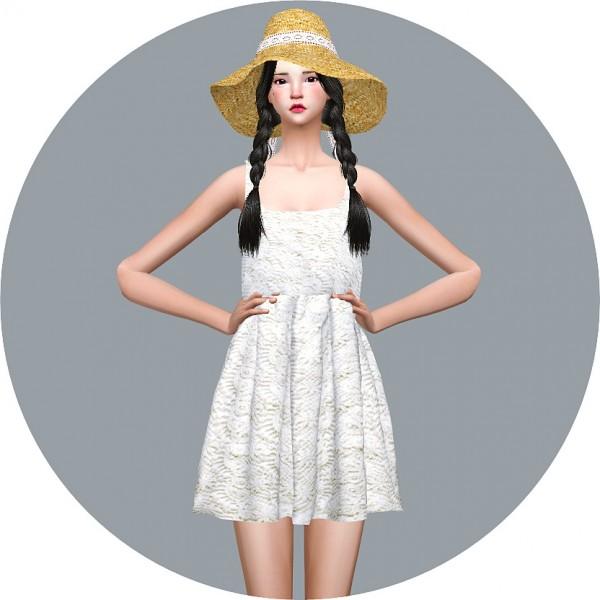 SIMS4 Marigold: Natural Sleeveless Dress