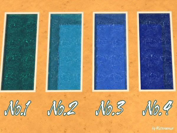 Akisima Sims Blog: Fresh Pool Colours   blue