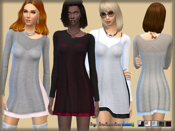 The Sims Resource: Dress Double Layer by Bukovka