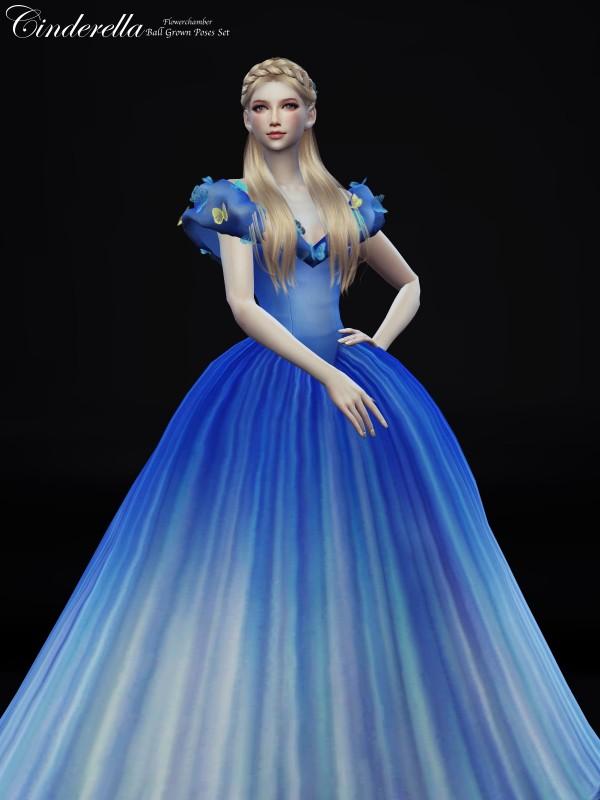 Flower Chamber: Cinderella Ball Grown Poses Set