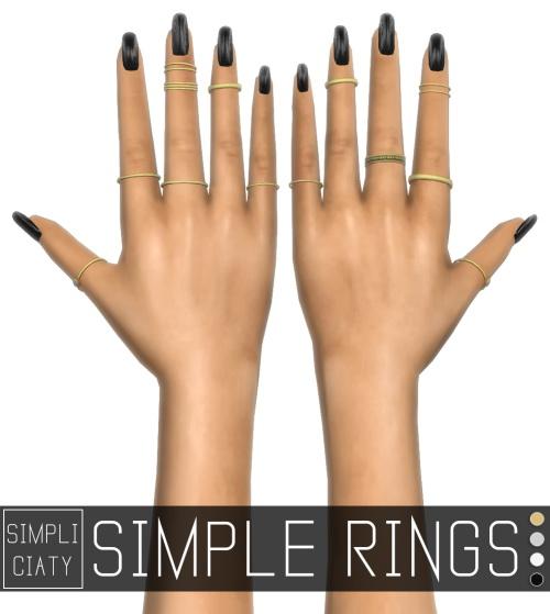 Simpliciaty sims: Simple rings