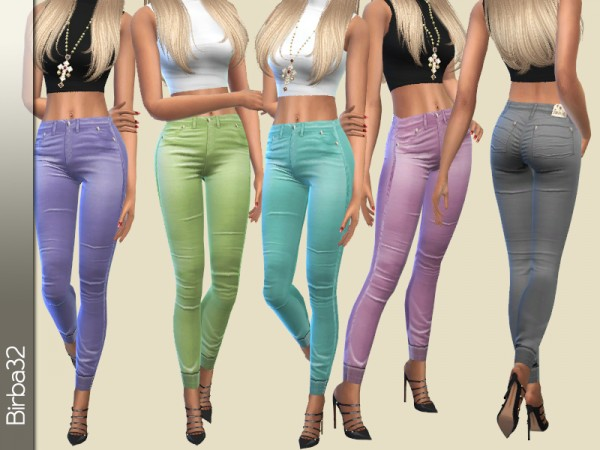 The Sims Resource: Spring Colorful Pants by Birba32