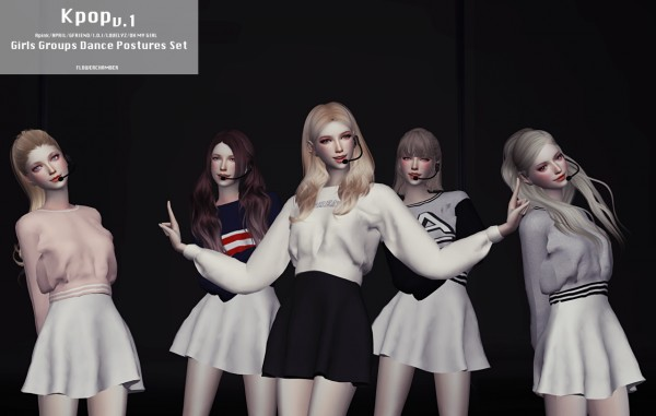 Flower Chamber: Kpop Girls Groups Dance Postures Set V.1