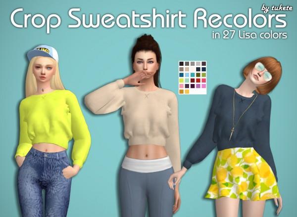 Tukete: Crop Sweatshirt Recolors