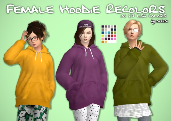 Tukete: Hoodie Recolors for her