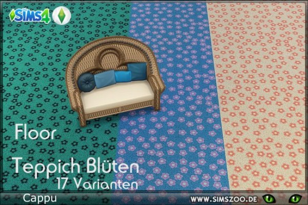 Blackys Sims 4 Zoo: Carpet with flowers by Cappu